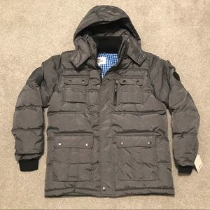 NWT - Ben Sherman Quilted Detachable Hood Parka